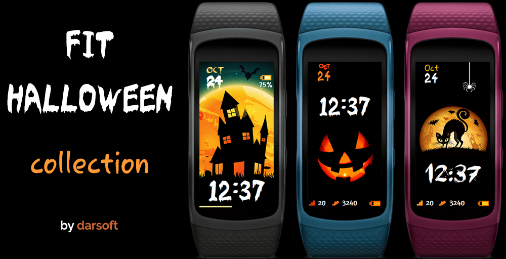 Halloween whatfaces designs for Gear Fit2 / Gear Fit2 Pro
