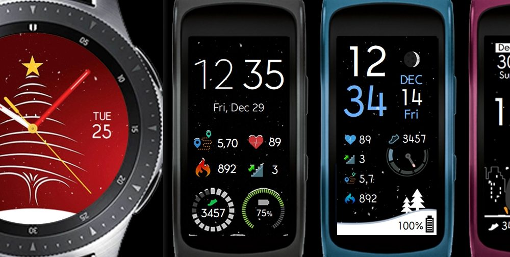 Christmas watchfaces for Samsung smart watches